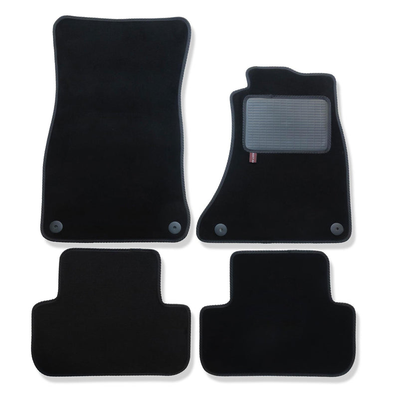 Audi A5 Coupe over mat set in black automotive carpet
