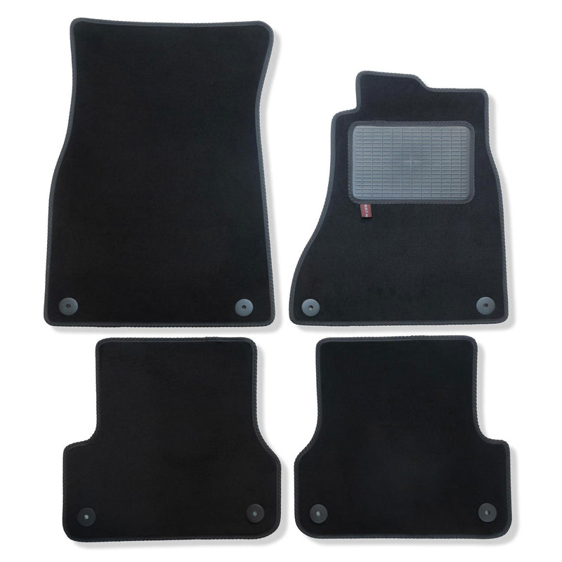 Audi A6 2011 onwards over mat set in black automotive carpet