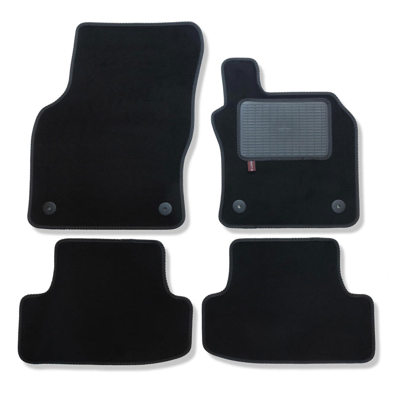 Audi Q2 2016 onwards over mat set shown in black automotive carpet