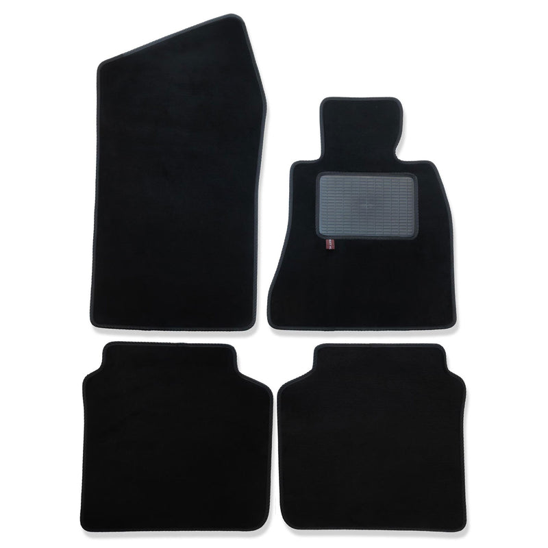 BMW 7 Series G11 2015 onward over mat set shown in black automotive carpet