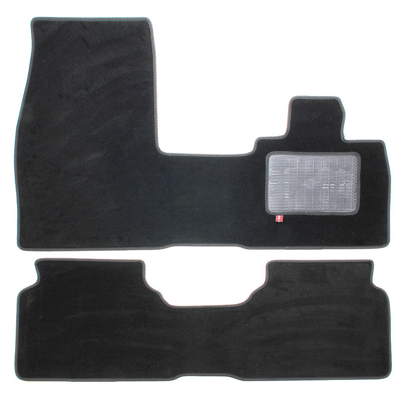 BMW i3 over mat set shown in standard black automotive carpet