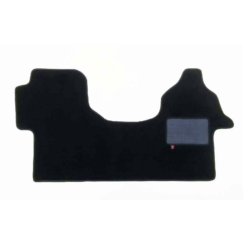 Volkswagen Crafter 2 plus 1 seat cab mat shown in black automotive carpet