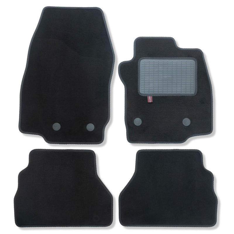 Ford B-Max 2015 onwards over mat set shown in black automotive carpet
