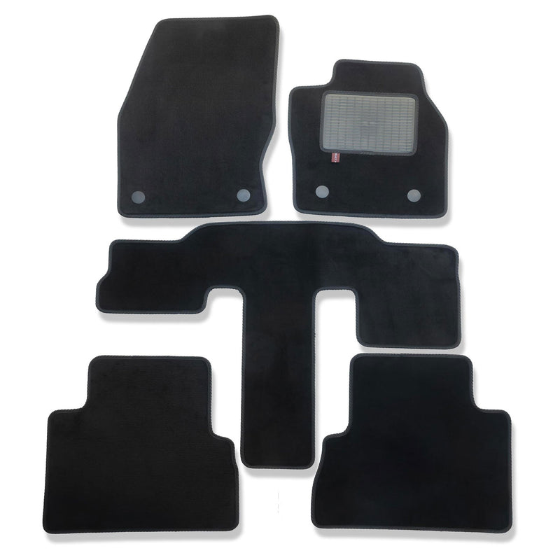 Ford C-Max Grand 2015 onwards over mats set shown in black automotive carpet