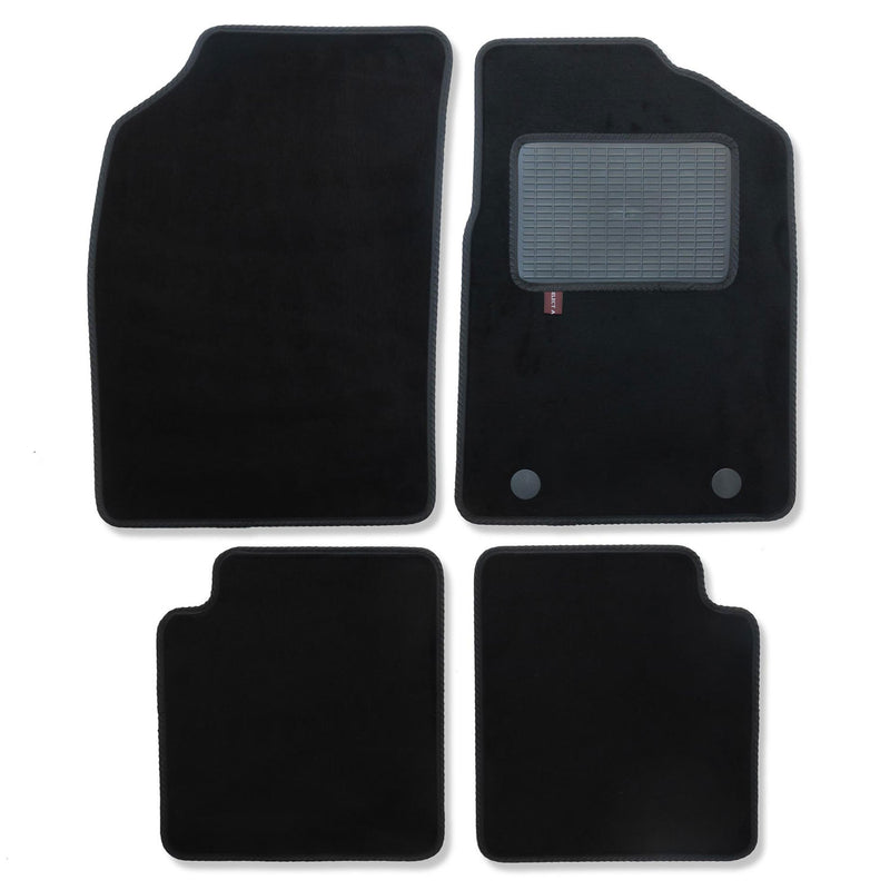 Ford Ka 2013 onwards over mat set shown in black automotive carpet