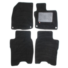 Honda Civic 2008-12 3+5 door over mat set shown in standard black automotive carpet