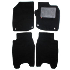 Honda Civic diesel 2013 over mat set with fixings shown in standard black automotive carpet