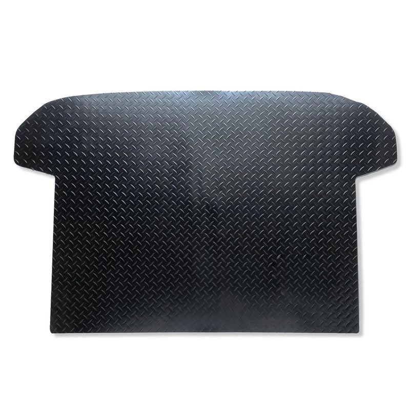 Kia Sportage 2010 to 2016 boot liner shown in black rubber with tread plate pattern