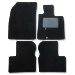 Nissan Micra 2010 to 2017 over mat set shown in black automotive carpet