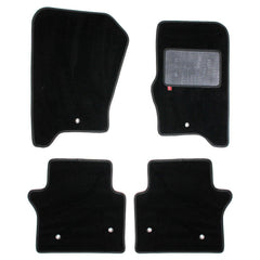 Range Rover Sport 2013-14 over mat set with fixings shown in standard black automotive carpet