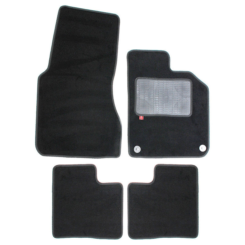 Smart Forfour 2015 onwards over mat set with fixings shown in standard black automotive carpet