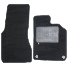 Smart Fortwo Coupe 2015 onwards over mat set with fixings shown in standard black automotive carpet