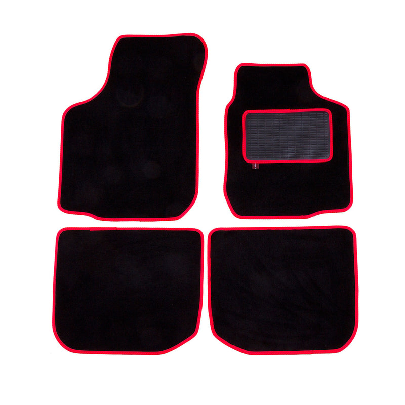 Volkswagen Golf Mk4 1997 to 2004 over mat set shown in black automotive carpet