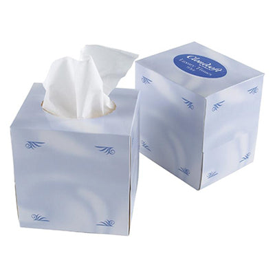 Cubed Boxes of Facial Tissues (Various Amounts)
