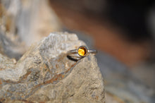 Load image into Gallery viewer, Custom Birthstone Sterling Silver Stacking Ring