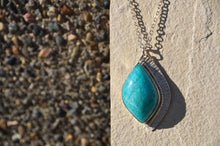 将图片加载到图库查看器,Amazonite Sterling Silver Statement Pendant