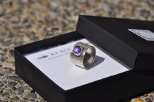 Load image into Gallery viewer, Amethyst Birthstone Sterling Silver Wrap Ring