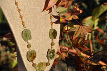 Load image into Gallery viewer, Green Garnet Large Stone Necklace