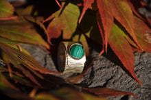 将图片加载到图库查看器,Malachite Sterling Silver Wrap Ring