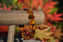 Load image into Gallery viewer, Rectangle Tiger Eye Beaded Bracelet