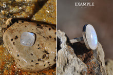 Load image into Gallery viewer, Custom Moonstone Sterling Silver Cab Ring (3-5)