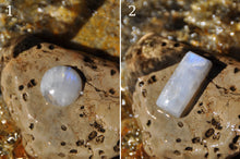 Load image into Gallery viewer, Custom Moonstone Sterling Silver Cab Ring (1-2)