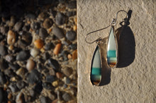 将图片加载到图库查看器,Opal Blue Green Teardrop Dangle Earrings