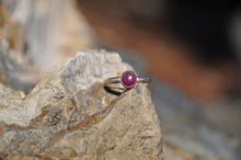Load image into Gallery viewer, Custom Birthstone Sterling Silver Stacking Rings