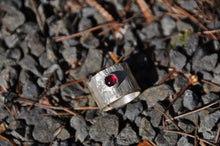 Load image into Gallery viewer, Ruby Birthstone Sterling Silver Wrap Ring