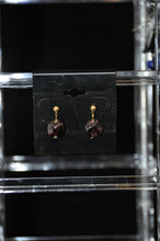 将图片加载到图库查看器,Dark Red Garnet Nugget Post Earrings