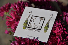 Load image into Gallery viewer, Peridot Beaded Dangle Earrings