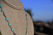 Load image into Gallery viewer, Opal Blue Birthstone Necklace