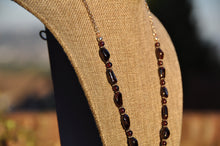 "Load image into Gallery viewer, 21"" Garnet & Silver Necklace"