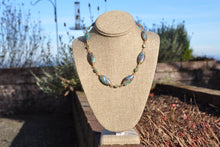 Load image into Gallery viewer, Green Kyanite and Lampwork Glass Necklace
