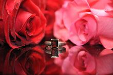 Load image into Gallery viewer, Radiant Cut Garnet Ring