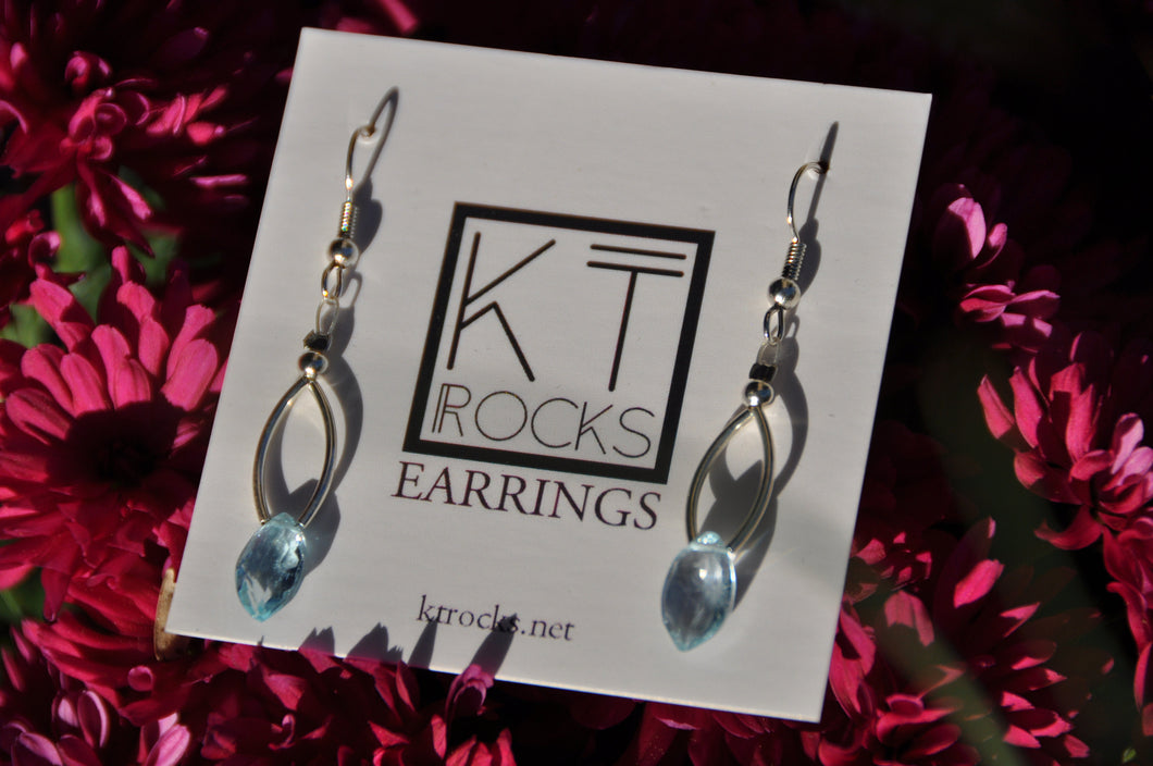 Teardrop Topaz Earrings