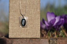 Load image into Gallery viewer, Kyanite Blue Oval Pendant Necklace