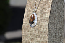 Load image into Gallery viewer, Teardrop Pietersite Pendant Necklace