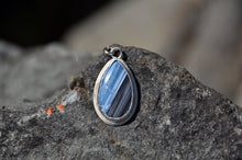 将图片加载到图库查看器,Blue Opal Teardrop Pendant Necklace