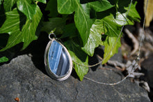Load image into Gallery viewer, Blue Opal Teardrop Pendant Necklace