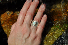 Load image into Gallery viewer, Opal Birthstone Sterling Silver Wrap Ring; October Birthstone