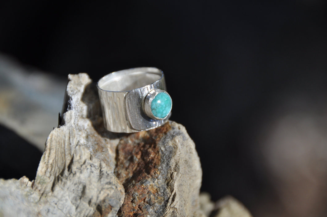 Turquoise Birthstone Sterling Silver Wrap Ring