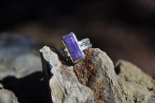 Load image into Gallery viewer, Rectangle Chaorite Sterling Silver Ring