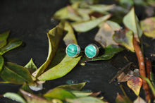Load image into Gallery viewer, Malachite Circle Stud Earrings