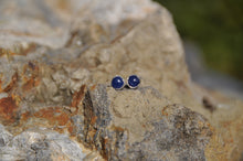 Load image into Gallery viewer, Sapphire Birthstone Stud Earrings