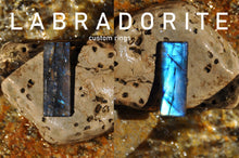 Load image into Gallery viewer, Custom Labradorite Sterling Silver Cab Ring (9-11)