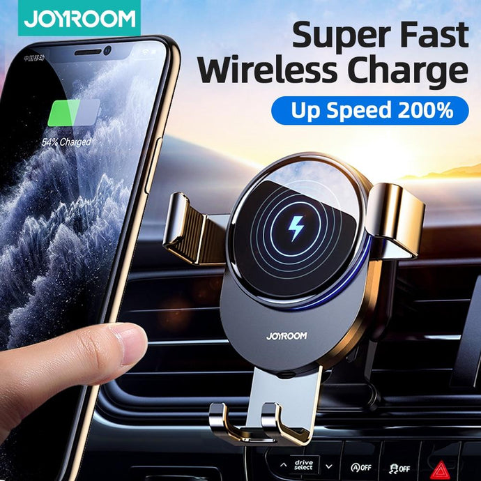 Joyroom 15W Qi Car Phone Holder Wireless Charger Car Mount Intelligent Infrared for Air Vent Mount car car charger wireless - Life's Hidden Treasures