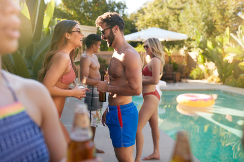 Friends Gather At A Summer Pool Party