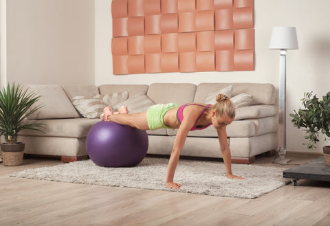 A routine workout from home