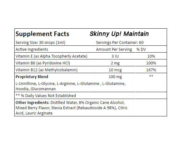 Skinny Up!® Maintain